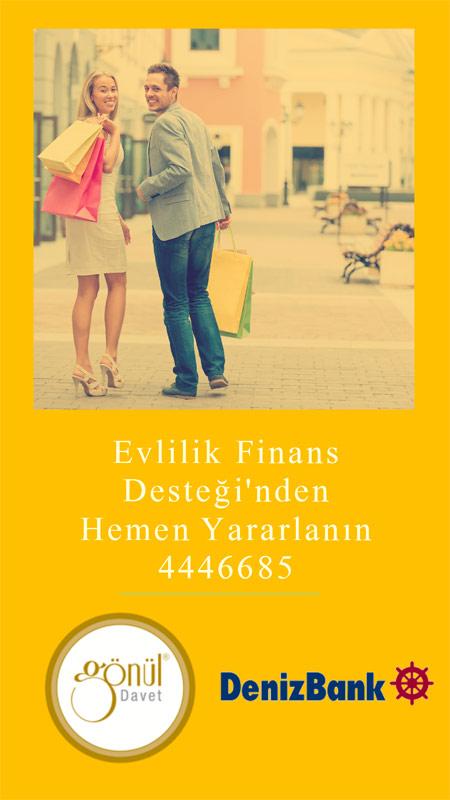 Denizbank evlilik finans desteği